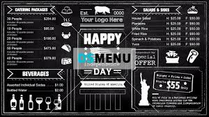 Chalkboard Menu Board Chalkboard Menu Restaurent Menu