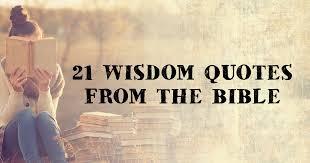 Wisdom Quotes Bible