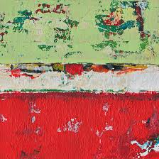 small abstract paintings red green dixon