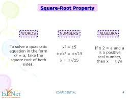 4 square root property