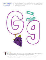 coloring letters page g