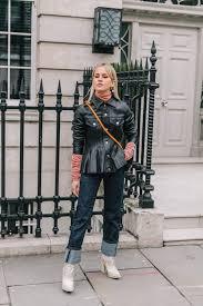 jacket leather jacket black leather jacket black jacket boots white boots jeans denim blue jeans