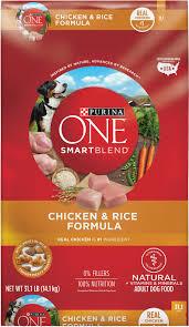 Purina One Smartblend Chicken Rice Adult Formula Dry Dog Food 31 1 Lb Bag
