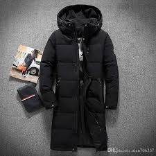 best mens hooded extra long duck down padded jackets man thick winter down coats male fashion long overcoat keep warm outerwear 8005 under 101 19 dhgate