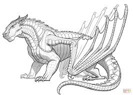 Small Picture Mudwing Dragon from Wings of Fire coloring page Free Printable