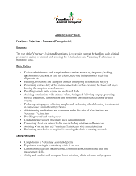 Vet Receptionist Resume Sample vet receptionist resumes Enderrealtyparkco 1