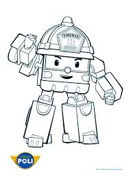 simple robocar poli coloring page for children