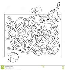 Coloring separated by topics, so girls and boys will be able to find images to your liking. Education Maze Or Labyrinth Game For Preschool Children Puzzle Tangled Road Coloring Page Outline Of Cat Sports Coloring Pages Coloring Books Coloring Pages