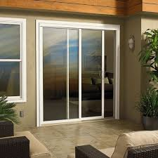 contemporary exterior sliding glass doors with wicker chairs and cushions for small patio design ideas