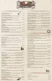 Menu | Napoli's Italian Restaurant In Norfolk, Nebraska
