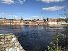 Tide Chart Kennebec River Bath Maine The Former Scott Paper Mill With The Kennebec River In The
