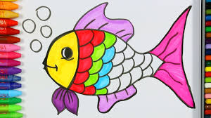You can easily print or download them at your convenience. Coloring Pages Fish Coloring Page How To Draw And Color Fish Fish Painting Learn Coloring Youtube