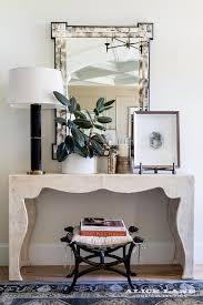 bone inlay mirror with white reen