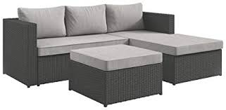 Outdoor sectional High Back Ashley Furniture Signature Design Pheasant Trail 3piece Outdoor Sectional Loveseat Chaise Amazoncom Amazoncom Ashley Furniture Signature Design Pheasant Trail