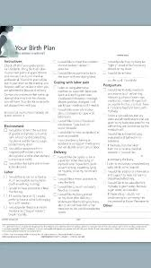 Birthing Plan Template Home Birth Plan Template Awesome Best Good Birth Plan