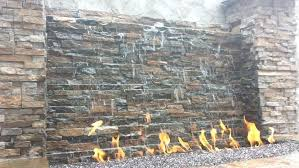 outdoor wall waterfall stone wall water fountain shining contractors city area extra large outdoor wall fountains