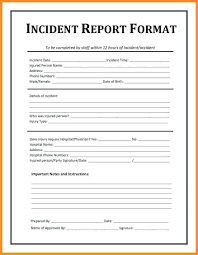 Incident Security Officer Report Template Writing Example
