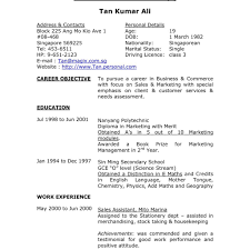 How To Write A Resume Singapore How To Write Resume Singapore Example For Job Good Samples Intended 3