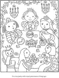 Color And Cook Tea Party By Monica Wellington Dover Publications
