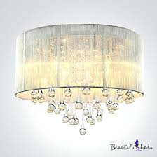chandelier light shades silver drum shade and rich crystal rainfall flush mount chandelier light small light chandelier light shades mini