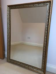 large gold wall mirror ornate bevelled edge 1 of 3only 1 available