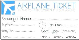 Air Ticket Template Seall Co
