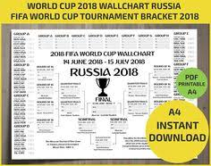 Wallchart Fifa 2018 World Cup Russia Pdf Printable