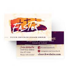 Church Mini Invite Cards Easter Orange Crosses Prochurch