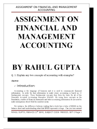 assignment on financial and management accounting debits and assignment on financial and management accounting debits and credits expense