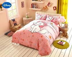 disney bedding set pink cartoon cat bedding set girls bedroom decor cotton bed duvet cover comforters disney bedding set
