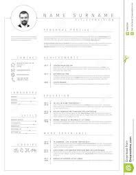 Vector Minimalist Cv Resume Template Stock Vector Illustration