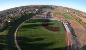 Grass field aerial Wild Aerial View Of Mcfarlands New Baseball Field Complex The Varsity Baseball Field Is Shown In The Foreground With The Junior Varsity Diamond Located Behind Snyder Associates Stormwater Access Space Challenges Mcfarland School District