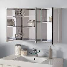 bathroom modern surface mount beveled edge medicine cabinet with