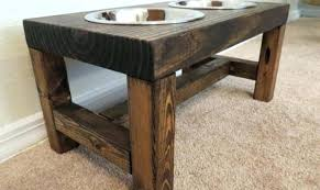 elevated dog bowl stand elevated dog bowl stand wooden 1 bowl mm