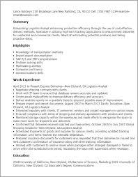 A Good Resume Template Interesting Professional Logistics Analyst Templates To Showcase Your Talent