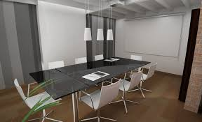 small office conference table. Office:Trendy Small Office Meeting Room Design With Sleek Top Table And Purple Swivel Conference