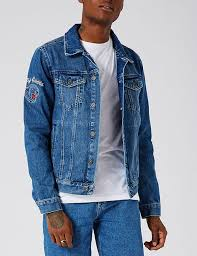 designers topman blue denim jackets for men