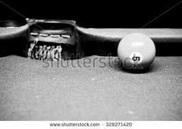billiards black and white. Black And White Tone Of No.5 Billiard Ball Next To Mid-table Hole Billiards 1