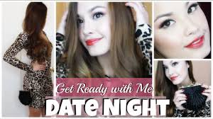 get ready with me valentine s day date night makeup outfit and hair