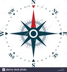 compass design compass rose on white background vector compass design stock vector