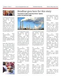 Newspaper Layout On Word Newsletter Template In Word Newspaper Templates For Students