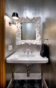 dazzling mini chandelier pendant glamorous powder room contemporary san francisco by lisa rubenstein real