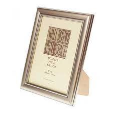 8 x 6 deluxe silver wooden photo frames