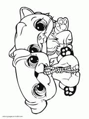 Small Picture Littlest pet shop LPS coloring pages
