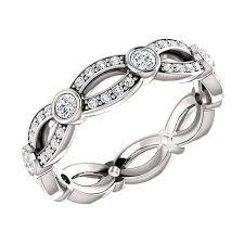 infinity diamond wedding band. infinity twist multi-diamond wedding band diamond