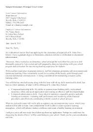 Letter To School Principle Cover Letter For Principal Position Cover Letter For High School