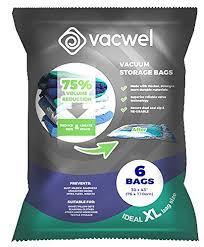 Amazon.com: Vacwel Jumbo Vacuum Storage Bags for Clothes, Quilts ...