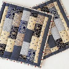 Quilted Patchwork Pot Holders / Hot Pads from Dockside Designs & Quilted Patchwork Pot Holders / Hot Pads / Trivets / Mug Rugs / Candle Mats  – Adamdwight.com