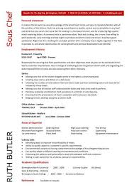 Sous Chef Resume Template Unique Sous Chef CV Sample