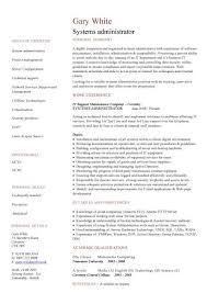 System Administrator Resume Stunning System Administrator Resume Template Commily